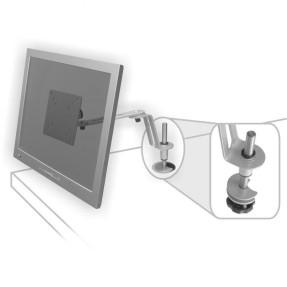 """Suporte para Monitor Mesa Articulado 10"""" a 17"""" Multivisão LCD FLEX-Slim"""