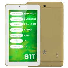"Foto Tablet Mirage 61T 8GB 3G 7"" Android 2 MP"