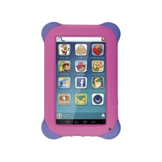 "Tablet Multilaser 8GB IPS 7"" Android 4.4 (Kit Kat) 2 MP Kid Pad NB194"