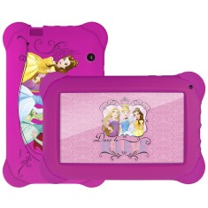 "Tablet Multilaser Allwinner A33 8GB LCD 7"" Android 4.4 (Kit Kat) 2 MP Disney Princesas NB239"