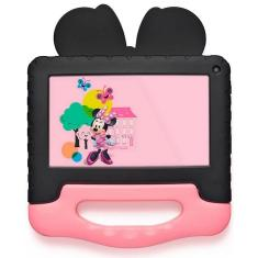 """Tablet Multilaser M7s Quad Core 16GB LCD 7"""" Android 8.1 (Oreo) 1,3 MP Minnie Mouse NB340"""