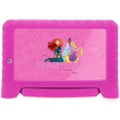 "Tablet Multilaser Quad Core 16GB LCD 7"" Android 8.0 (Oreo) 2 MP Disney Princesas Plus NB308"