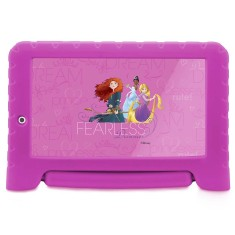 "Foto Tablet Multilaser Disney Princesas Plus NB281 8GB 7"" Android 2 MP Filma em HD 7.0 (Nougat) 