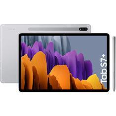 "Tablet Samsung Galaxy Tab S7 Plus Qualcomm Snapdragon 865 256GB Super Amoled 12,4"" Android 10 SM-T970"