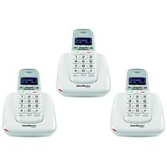 Telefone sem Fio Intelbras com 2 Ramais TS 63V + 2