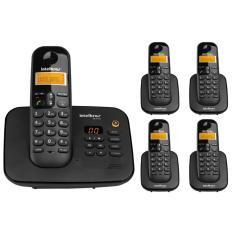 Telefone sem Fio Intelbras com 4 Ramais Secretaria Eletrônica TS 3130