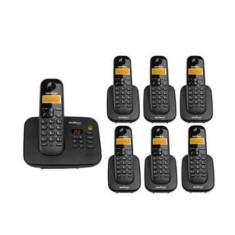 Telefone sem Fio Intelbras com 6 Ramais Secretaria Eletrônica TS3130 + 6