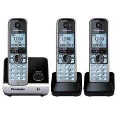 Telefone sem Fio Panasonic com 2 Ramais KXTG6713