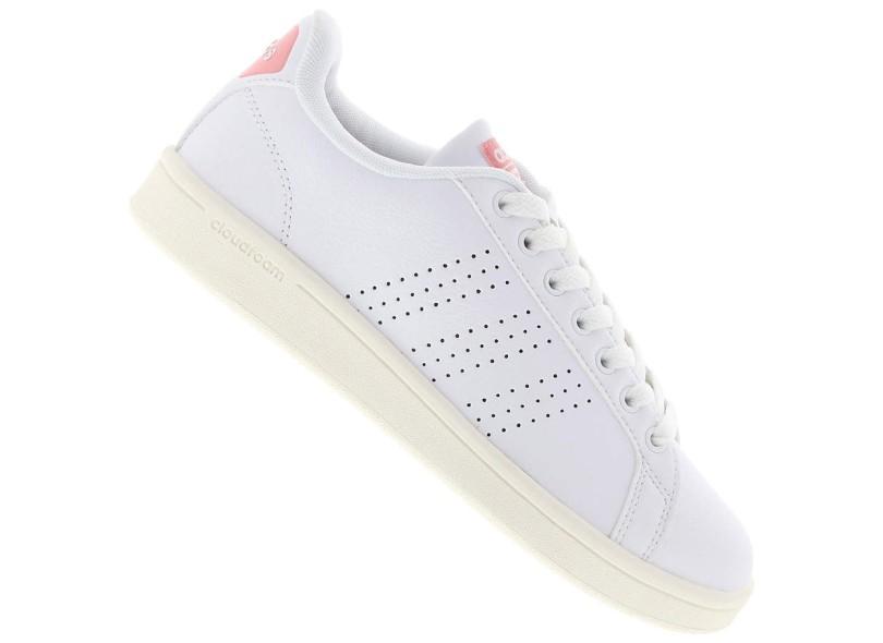 Tênis Adidas Feminino Casual Cloudfoam Advantage Clean 6346b4fffa491