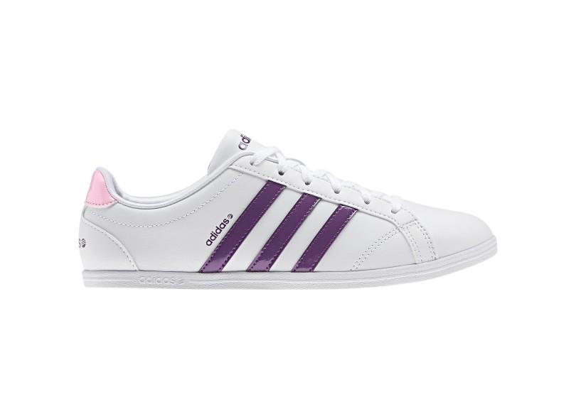 761192d06 Tênis Adidas Feminino Casual Coneo QT