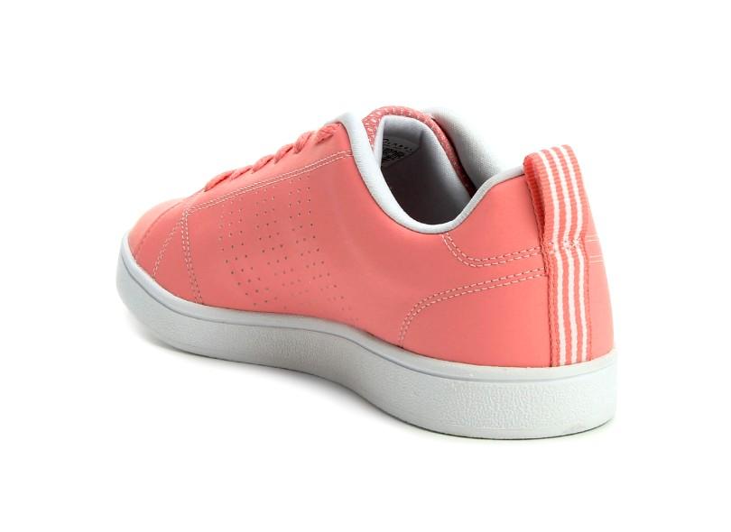 4d049599b4c Tênis Adidas Feminino Casual Vs Advantage Clean