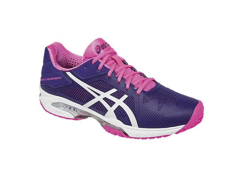 54100aa0e Tênis Asics Feminino Tenis e Squash Gel Solution Speed 3
