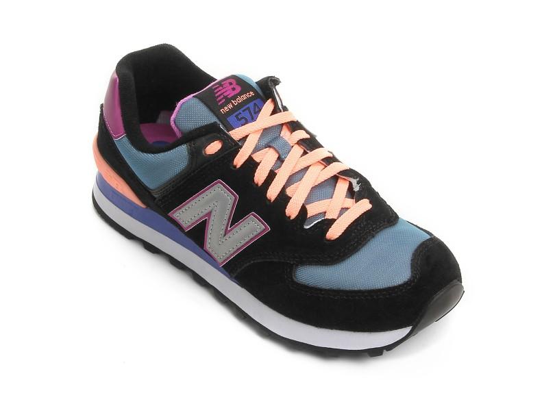 Tênis New Balance Feminino Casual 574 Tiki 66dc47a705