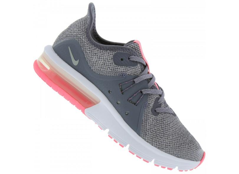 39ba3772b4 Tênis Nike Infantil (Menina) Corrida Air Max Sequent 3