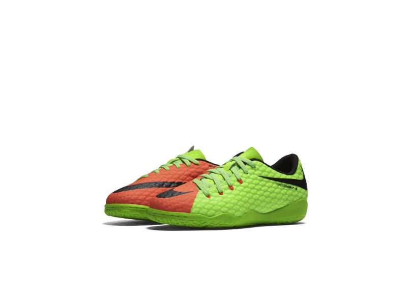 Tênis Nike Infantil (Menino) Futsal Hypervenom Phelon III 883f4c5722dbb