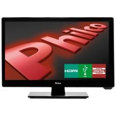 """TV LED 16"""" Philco PH16D10D 1 HDMI USB Frequência 60 Hz"""