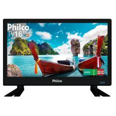 """TV LED 16"""" Philco PTV16S86D 2 HDMI USB Frequência 60 Hz"""