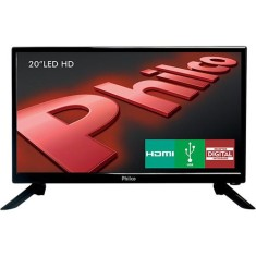 "TV LED 20"" Philco PH20N91D 1 HDMI USB Frequência 60 Hz"