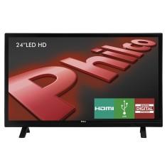 """TV LED 24"""" Philco PH24E30D 2 HDMI USB Frequência 60 Hz"""