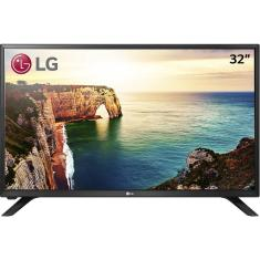"Foto TV LED 32"" LG 32LJ500B 2 HDMI USB Frequência 60 Hz"