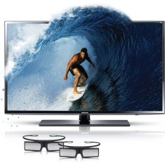 "Foto TV LED 3D 40"" Samsung Série 6 Full HD UN40EH6030G 2 HDMI"
