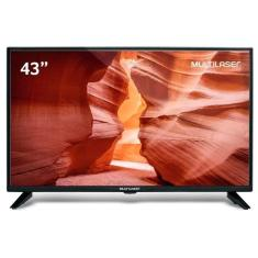 "TV LED 43"" Multilaser Full HD TL018 2 HDMI"