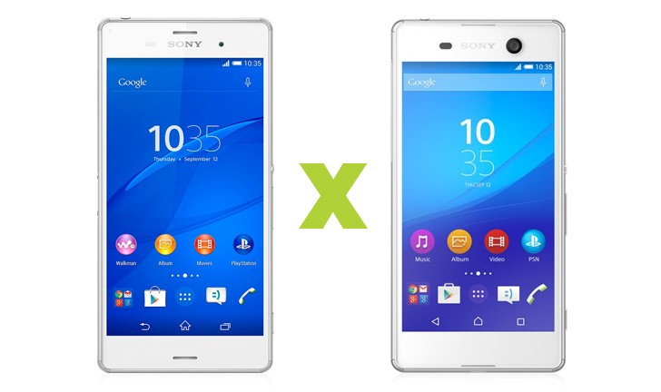 Xperia Z3 ou Xperia M5: qual smartphone top da Sony escolher?