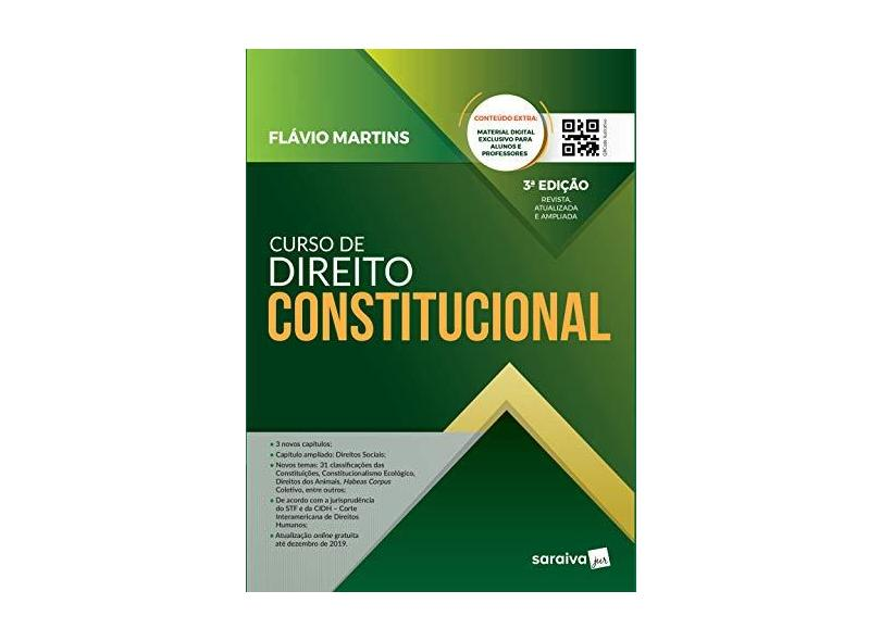 Curso De Direito Constitucional - Flávio Martins - 9788553609093