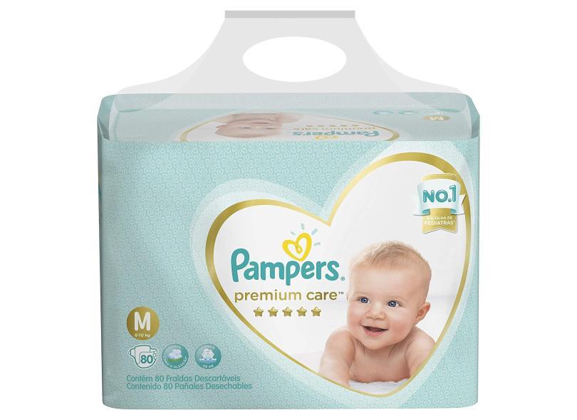 Fralda Pampers Premium Care M 80 Und 6 - 10kg
