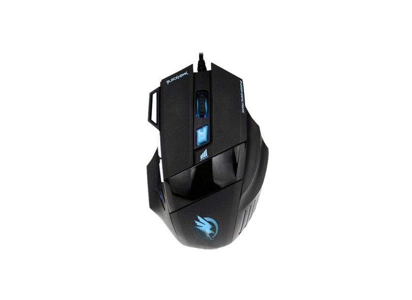 Mouse Óptico Gamer USB Black Hawk - Fortrek