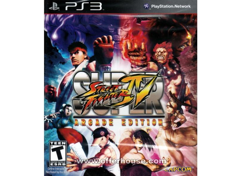 Jogo Super Street Fighter IV: Arcade Edition Capcom PS3