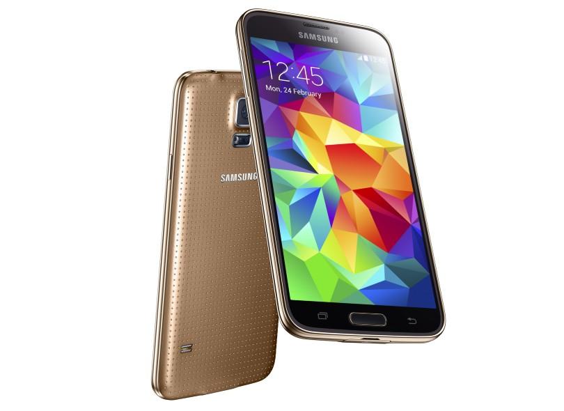Smartphone Samsung Galaxy S5 Câmera 16,0 MP Desbloqueado 16 GB Android 4.4 (Kit Kat) 4G Wi-Fi