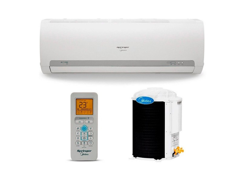 Ar Condicionado Split Hi Wall Springer Midea 9000 BTUs Controle Remoto Frio 42MACA09S5 / 38KCX09S5