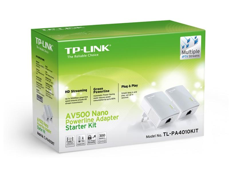 Repetidor Powerline 500 Mbps Tl-PA4010Kit - TP-Link