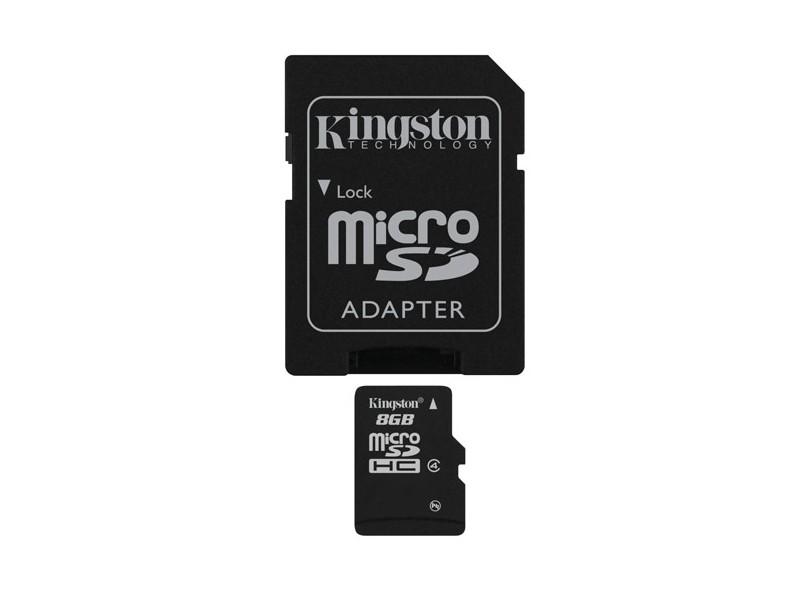 Cartão de Memória Micro SDHC Kingston 8 GB SDC4/8GB