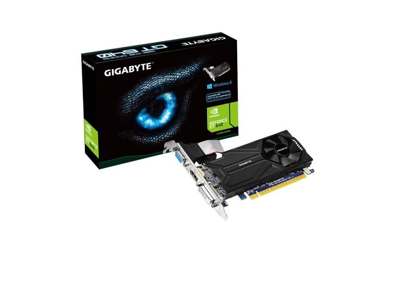 Placa de Video NVIDIA GeForce GT 640 1 GB DDR5 64 Bits Gigabyte GV-N640D5-1GL