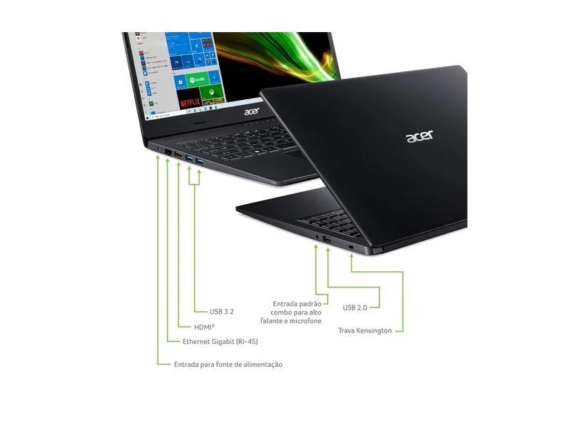 "Notebook Acer Aspire 3 AMD Ryzen 7 3700U 8 GB de RAM 256.0 GB 15.6 "" Windows 10 A315-23G-R759"