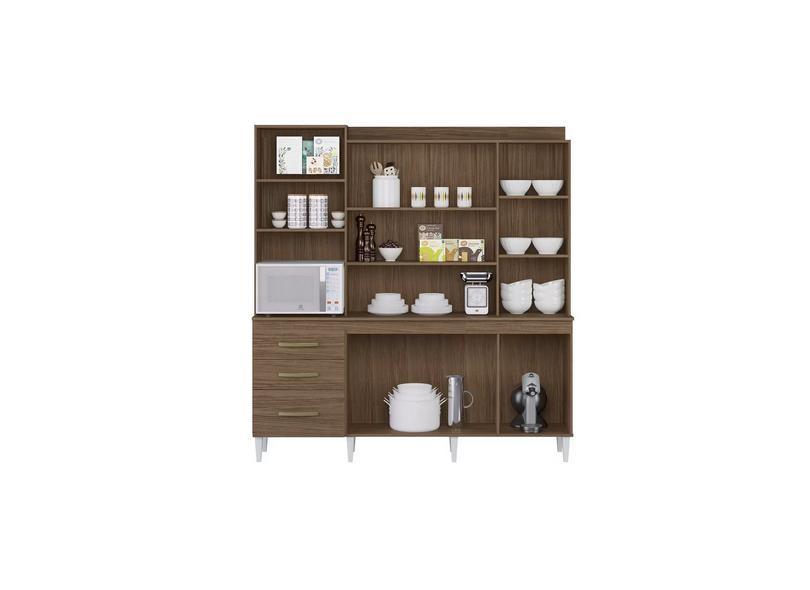 Cozinha Completa 3 Gavetas 7 Portas para Micro-ondas / Forno Mirela Aramóveis