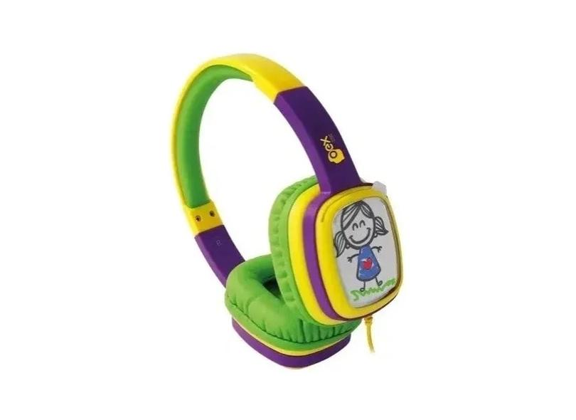 Headphone Cartoon, OEX, HP302, Microfones e Fones de Ouvido, Roxo