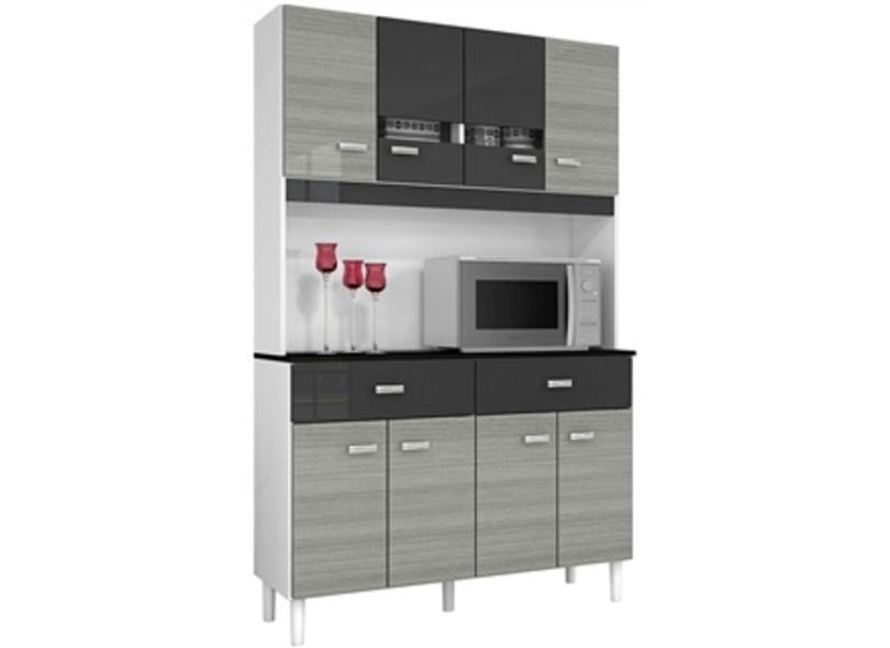 Cozinha Compacta 8 Portas 2 Gavetas Manu Poquema