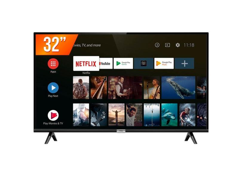 "Smart TV TV LED 32"" TCL Netflix 32S6500S 2 HDMI"
