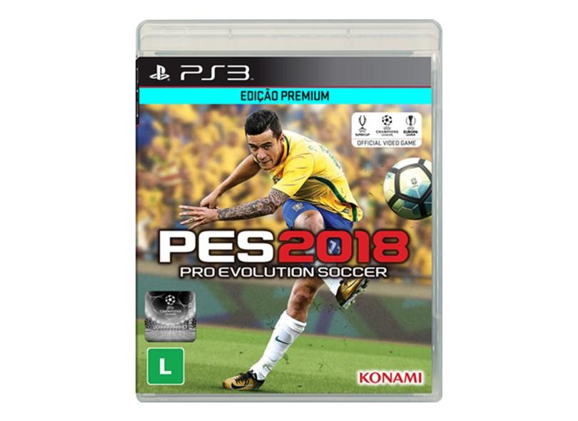 Jogo Pro Evolution Soccer 2018 PlayStation 3 Konami