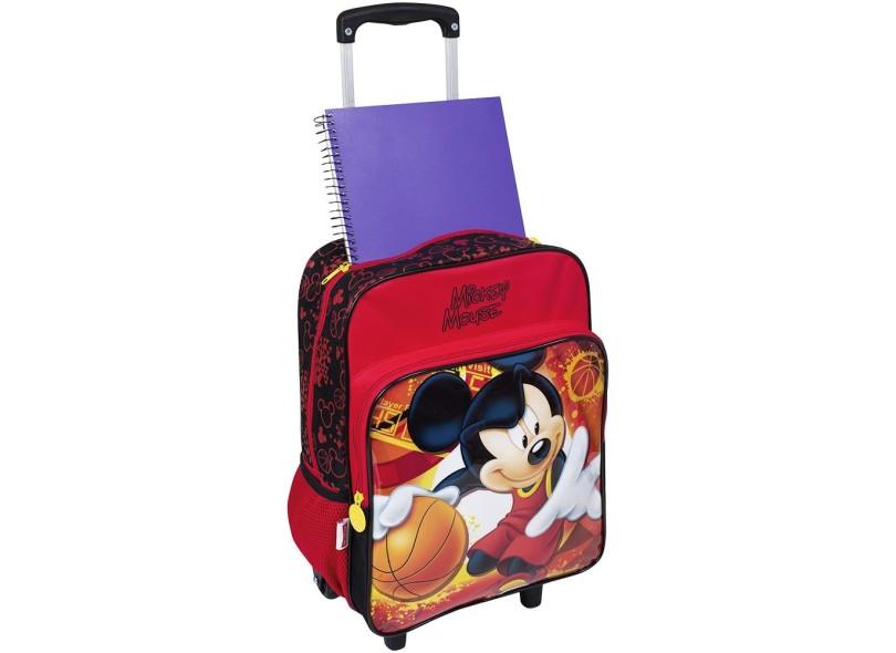 Mochila com Rodinhas Escolar Sestini Mickey 16M Plus G