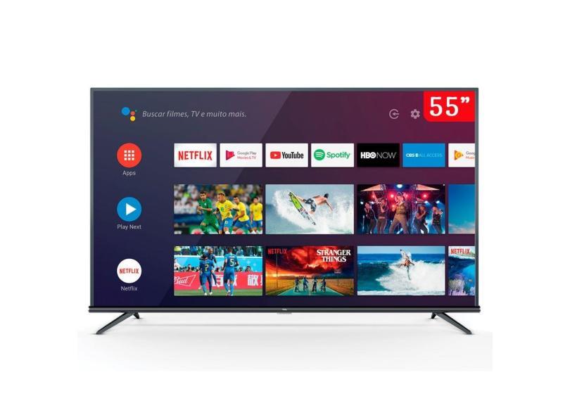 """Smart TV TV LED 55 """" TCL 4K Netflix 55P8M 3 HDMI"""