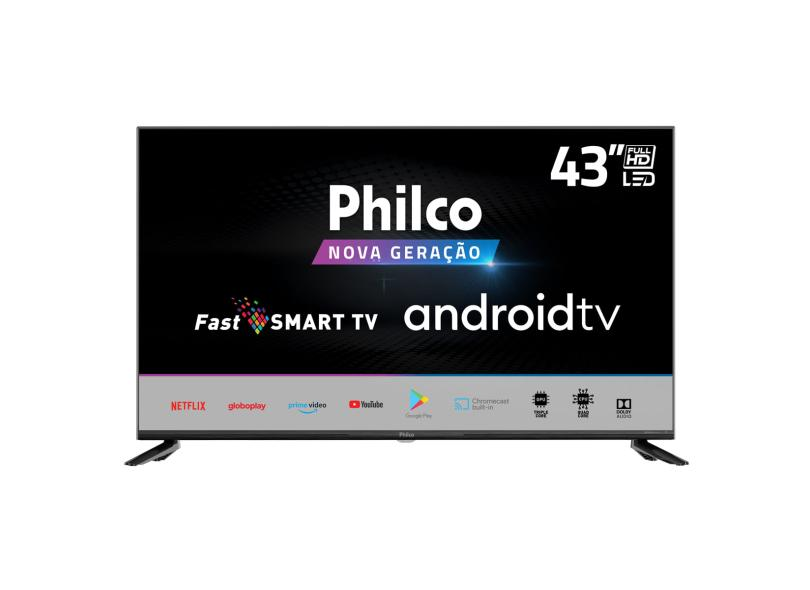 "Smart TV TV LED 43 "" Philco Full PTV43AGCG70BLF 2 HDMI"