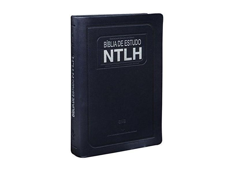 Bíblia de Estudo Ntlh - Nova Tradução na Linguagem de Hoje - Capa Azul Escovado - Sbb - 7898521805890