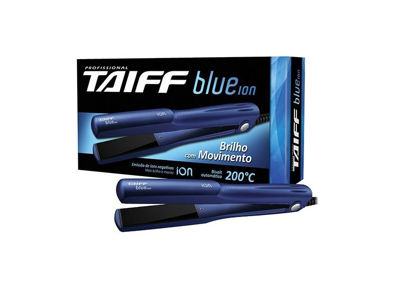 Chapinha/Prancha de Cabelo Taiff Elegance Cerâmica Turmalina Profissional Emissão de Íons 200 °C - Blue Íon