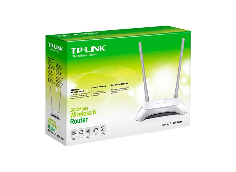 Roteador Wireless 300 Mbps TL-WR840N - TP-Link