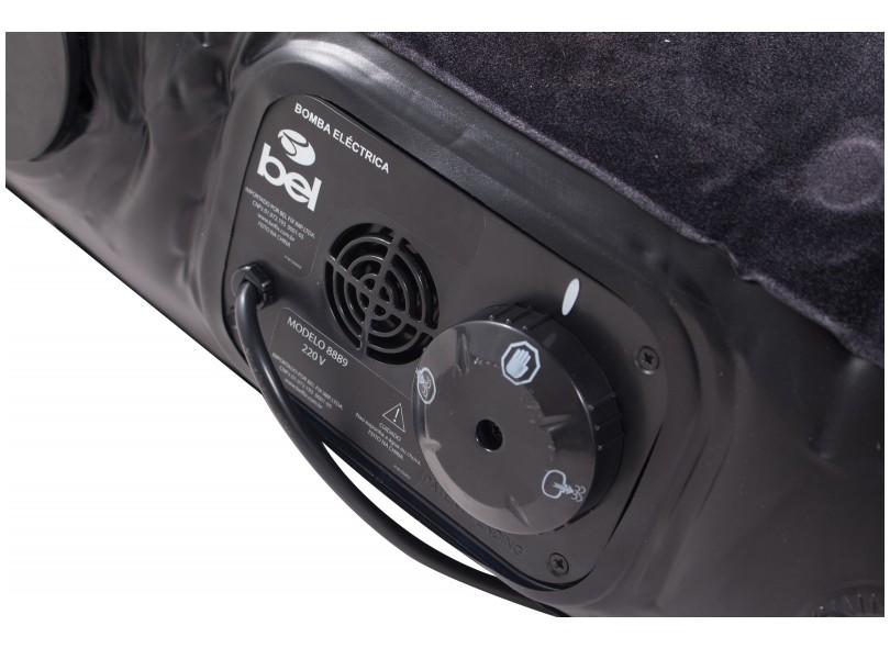 Colchão Inflável Queen Size Aveludado com Inflador Elétrico - Bel Fix 8888