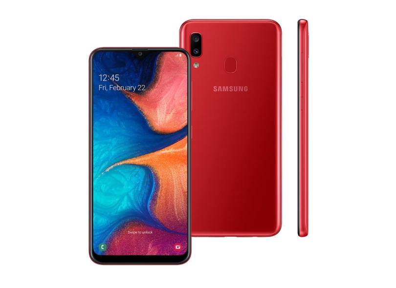 Smartphone Samsung Galaxy A20 32GB 13,0 MP 2 Chips Android 9.0 (Pie) 3G 4G Wi-Fi